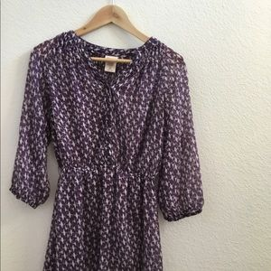 Mossimo Purple & White Top